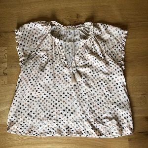 Ulla Johnson Silk Cream Blouse Size 10